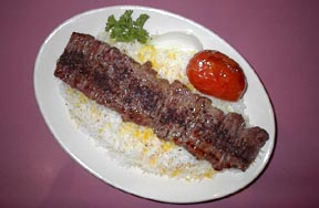 Chelo Kabob Barg: Top Choice Beef